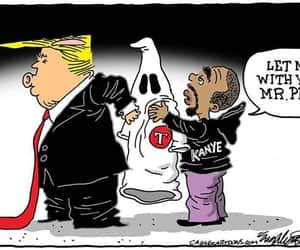 funny, kanye, and trump image
