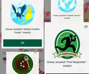 active, badge, and finland image