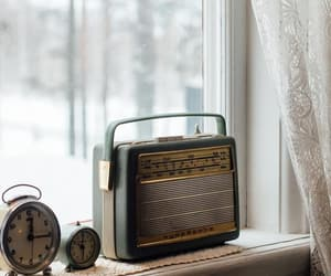 vintage, radio, and white image