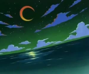 anime, moon, and one piece image