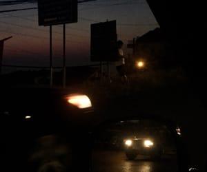 aesthetic, car, and gloomy image