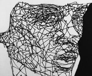 art, bw, and emotional image