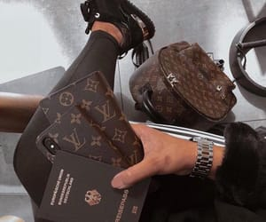 Louis Vuitton, luxury, and airport image