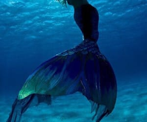 mermaid, sea, and ocean image
