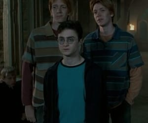 daniel radcliffe, fred weasley, and harry potter image