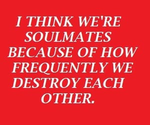 quotes, red, and soulmates image