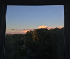 clouds, sky, and evening image