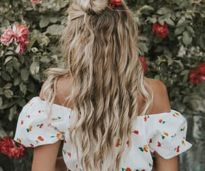 hair, hairstyle, and summer hair image