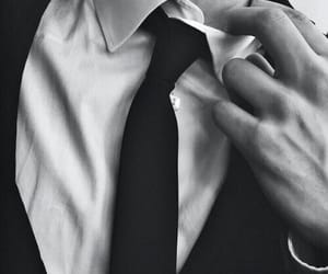 suit, black and white, and boy image