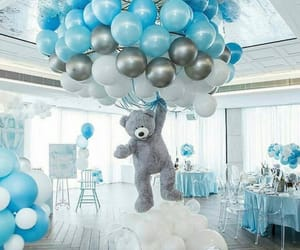 balloons, blue, and party image