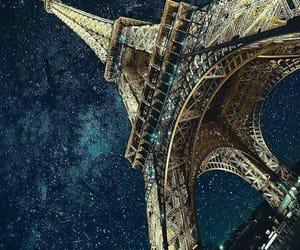 paris, stars, and night image