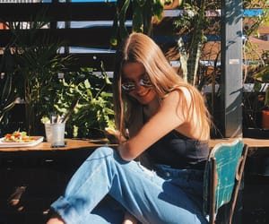blonde, cafe, and food image