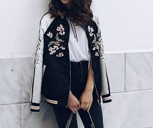 fashion, black and white, and outfit image