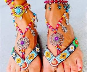 bohemian gypsy sandals image