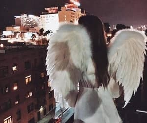 angel, girl, and nigth image