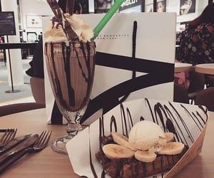 chocolate, waffles, and banana image