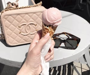 ice cream, chanel, and bag image