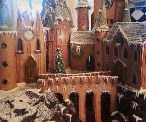 hogwarts, book, and gingerbread image