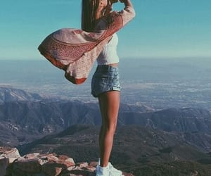 free, girl, and mountain image
