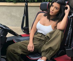 kourtney kardashian, style, and white image