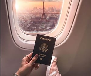 paris, travel, and passport image
