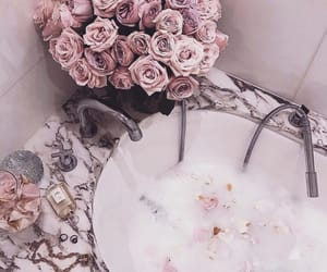 rose, flowers, and bath image