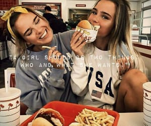 friends, food, and girls image