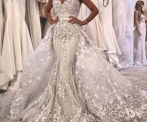 beautiful, bride, and dress image