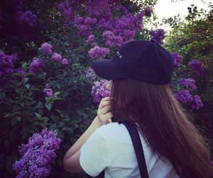 cap, hair, and nature image