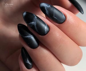 beautiful, marble, and nails image