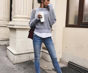 grey, hair, and jeans image