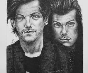 art, zayn malik, and Harry Styles image