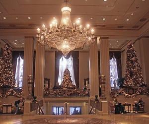 christmas, luxury, and chandelier image