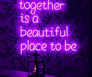 purple, neon, and quotes image