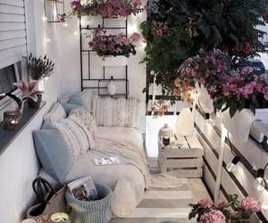 flowers, balcony, and beautiful image