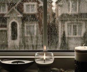 rain, candle, and gif image