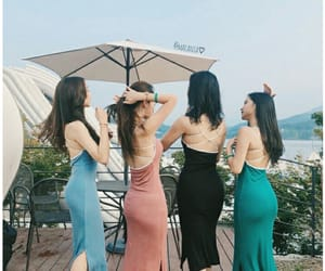 aesthetic, asian girls, and blue image