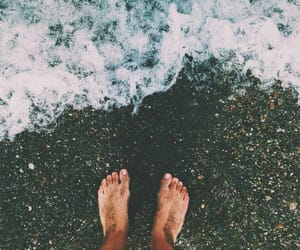 aesthetic, ocean, and sand image
