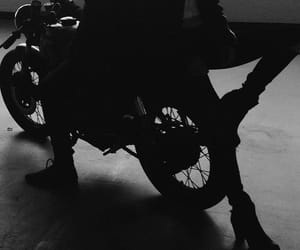 black, dark, and motorcycle image