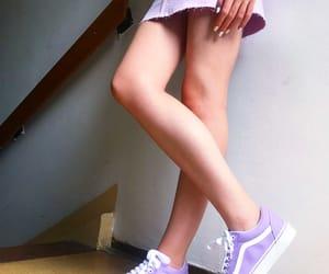 alternative, nails, and purple image