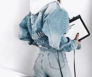 fashion, denim, and girl image