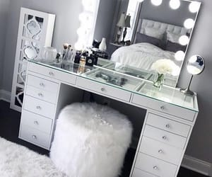 room, makeup, and mirror image