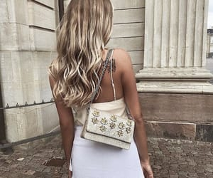 bag, blonde, and chic image