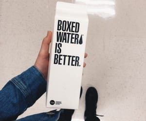 black, boxed water, and drink image