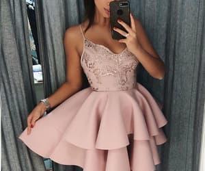 fashion, lace dress, and mini dress image