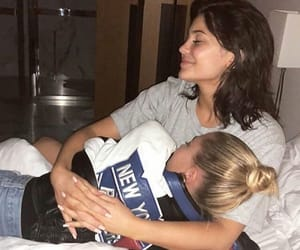 kylie jenner, hailey baldwin, and friendship image