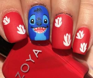 blue, disney, and nails image