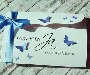 blau, schmetterling, and hochzeit image