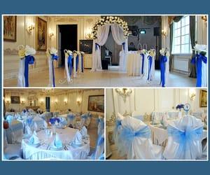 blau, hochzeit, and deko image