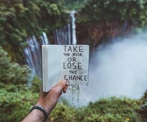 nature, waterfall, and chance image